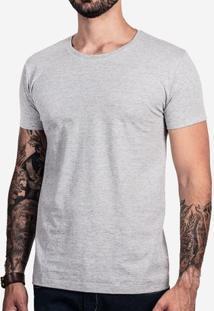 Camiseta Básica Mescla Escuro 0200