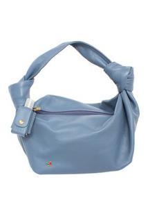 Bolsa De Mão Azul Jeans Legítimo Atz 12