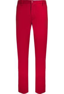 Calça Masculina Denim - Vermelho