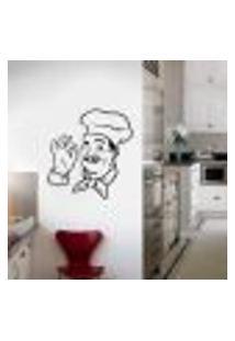 Adesivo De Parede Chefe De Cozinha Divino - G 80X80Cm
