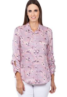 Camisa Love Poetry Estampado Rosa