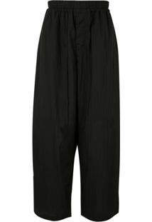 Joe Chia Drawstring Drop-Crotch Trousers - Preto