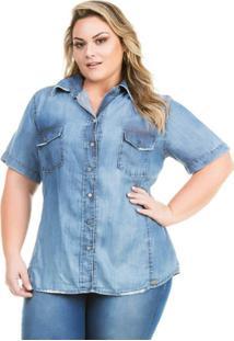 Camisa Plus Size feminina  da2326227c8