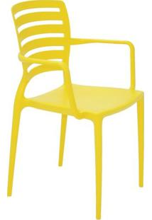 Cadeira Sofia- Amarela- 84,5X58,5X51Cm- Tramontitramontina