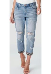 Calça Azul Boyfit Classic Jeans