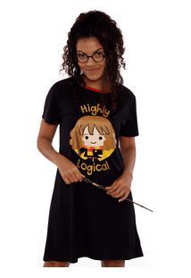 Camisola Manga Curta Hermione Harry Potter Adulto Pp