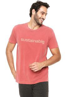 Camiseta Osklen Stone Sustainable Coral