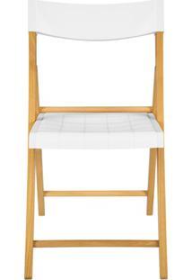 Cadeira Dobrável Sem Braço Em Madeira Tauarí 78,1X42,1X53,7Cm Branca