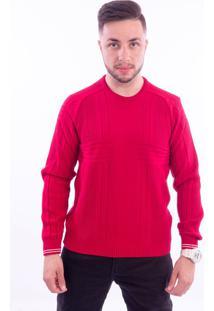 Blusa G'Dom Com Canelados Vermelha