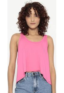 Blusa Lisa Com Recortes- Rosa Neon- Sommersommer