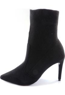 Bota Meia Naturali Sock Boot Nobuck Preto