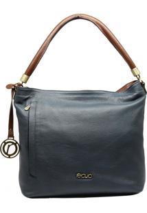 Bolsa Em Couro Recuo Fashion Bag Azul