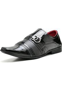 Sapato Social Eleganci Fashion Preto Verniz