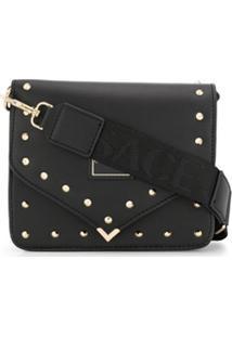 Versace Jeans Couture Clutch Envelope Com Tachas - Preto