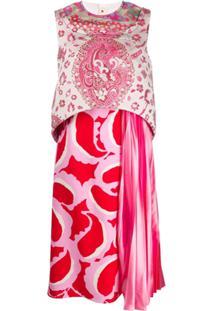 Marni Vestido Com Pregas - Rosa