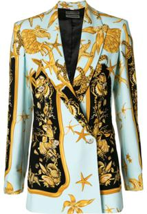 Versace Blazer 'Tresor De La Mer' - Azul