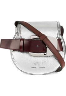Proenza Schouler Buckle Mini Crossbody Bag - Prateado