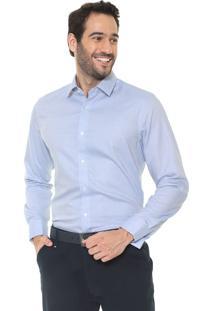 Camisa Banana Republic Reta Camden Standard-Fit French Cuff Azul