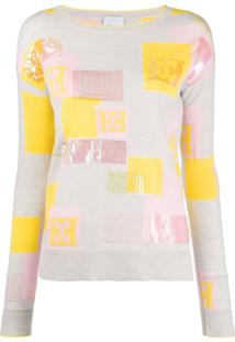 Escada Sport Sequin Embroidery Jumper - Cinza