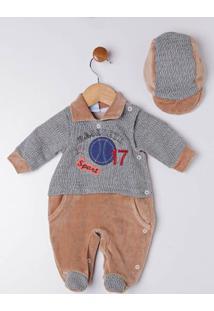 Enxoval Infantil Para Bebê Menino - Bege/Cinza