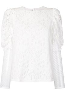 See By Chloé Longsleeved Lace Blouse - Branco