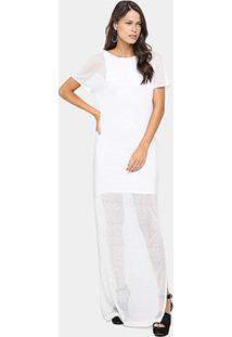 Vestido Coca-Cola Longo Forro - Feminino-Off White