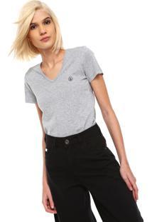 Camiseta Volcom Basic Circle Stone Cinza
