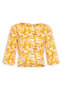 Blusa Feminina Trapézio - Amarela