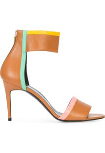 Pierre Hardy Sandália Color Block - Marrom