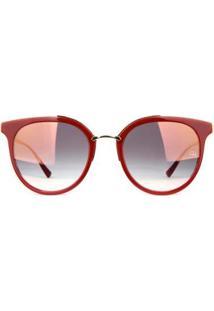Óculos De Sol Ana Hickmann Feminino - Feminino-Vermelho