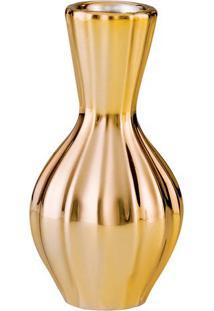 Vaso Metalizado- Dourado- 12,5Xø7,5Cm- Martmart