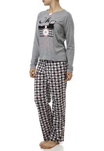 Pijama Longo Feminino - Feminino