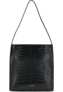 Frenzlauer Embossed Square Shoulder Bag - Preto