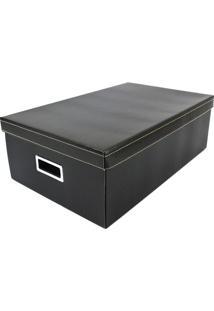 Caixa Organizadora G Linho- Preta- 16X31X50Cm- Bboxmania