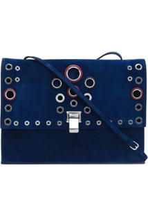 Proenza Schouler Clutch Grande Modelo 'Lunch' - Azul