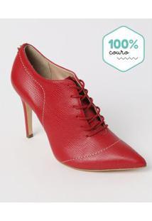 Ankle Boot Adulto Vermelha - Jorge Bischoff. - 33