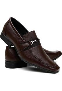Sapato Social Couro Vr Masculino - Masculino-Marrom