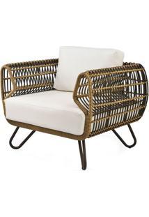 Poltrona Saratoga Estrutura Aluminio Revestido Em Fibra Cor Bege Madrid - 44685 - Sun House