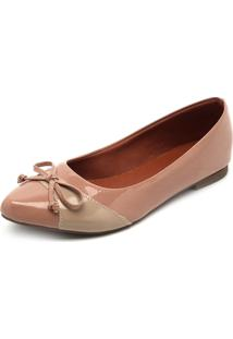 Sapatilha Dafiti Shoes Recorte Rosa - Rosa - Feminino - Dafiti