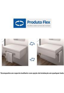 Conjunto Para Banheiro Gabinete Com Cuba L42 E Espelheira 601W Metrópole Compace Carvalho