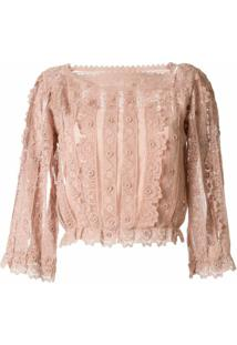 Redvalentino Blusa De Renda - Rosa