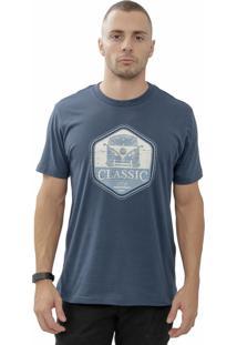 Camiseta Cheiro De Gasolina Kombi Classic Azul Marinho
