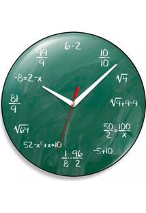 Relógio De Parede Geek Blackboard Geek10 Verde