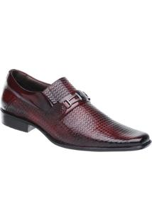 Sapato Social Malbork Em Couro Verniz - Masculino-Marrom Escuro