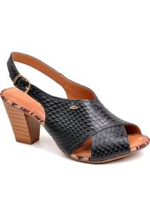 Sandália Dakota Tiras Cruzadas - Feminino-Preto