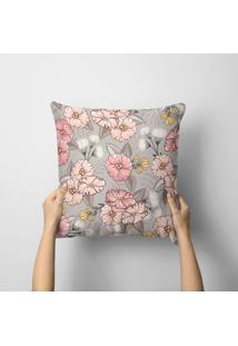 Capa De Almofada Avulsa Decorativa Cute Flowers 45X45Cm