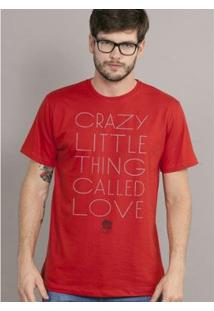 Camiseta Bandup! Queen Crazy Little Thing Called Love - Masculino-Vermelho