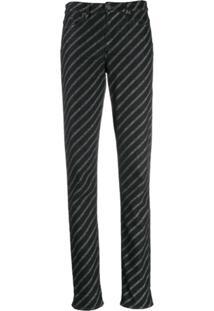 Karl Lagerfeld Calça Jeans Com Logo - Preto