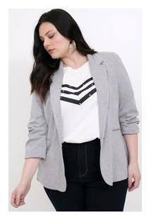 Blazer Básico Mescla Curve & Plus Size