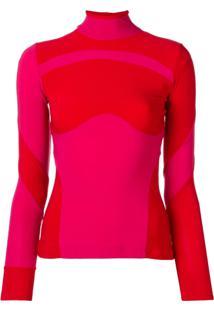 Atu Body Couture Suéter Color Block - Vermelho